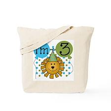 Lion 3rd Birthday Tote Bag