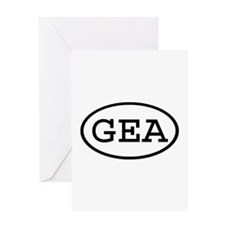 GEA Oval Greeting Card