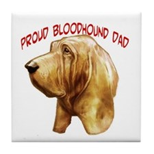 Cute Bloodhounds Tile Coaster