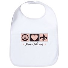 Peace Love New Orleans Bib