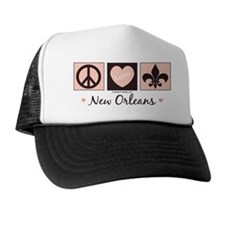 Peace Love New Orleans Trucker Hat