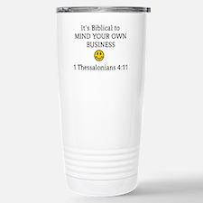 Mind Your Own Business, Travel Mug