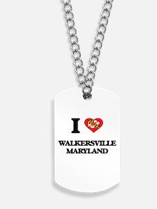I love Walkersville Maryland Dog Tags