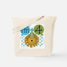 Lion 4th Birthday Tote Bag