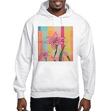 pink flower plaid Hoodie