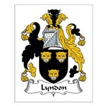 Lyndon Family Crest Small Poster