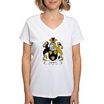 Lyndon Family Crest Women's V-Neck T-Shirt