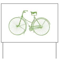 Vintage Bicycle Yard Sign