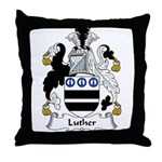 Luther Family Crest Throw Pillow