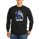 Lusk Family Crest Long Sleeve Dark T-Shirt