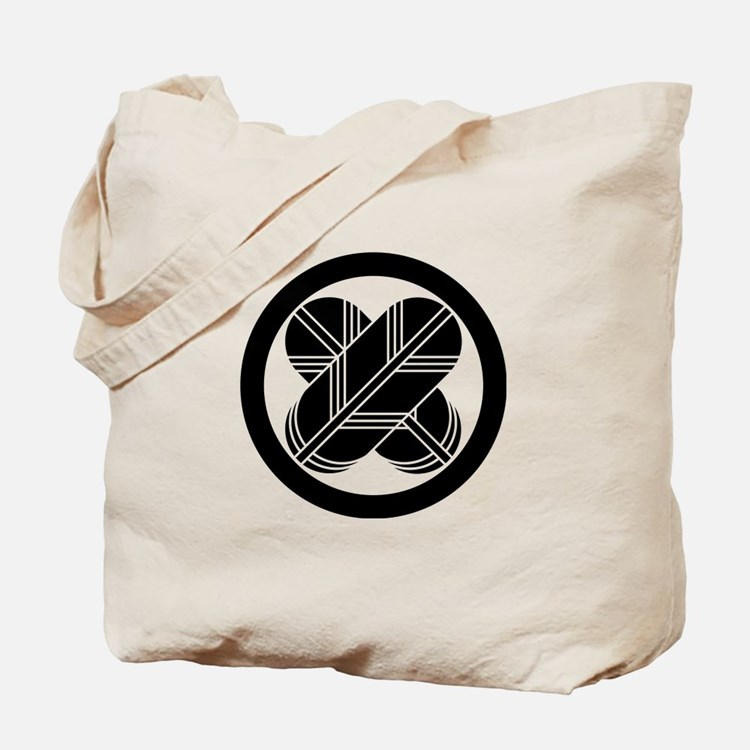 Intersecting hawk feathers in circle Tote Bag