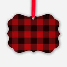 Funny Red plaid Ornament