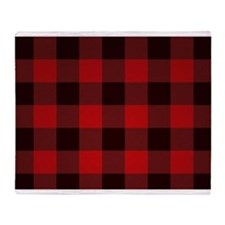 Funny Red plaid Throw Blanket