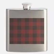 Unique Red plaid Flask