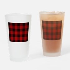 Funny Red plaid Drinking Glass