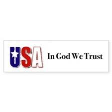 USA In God We Trust Bumper Bumper Sticker