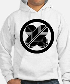 Intersecting hawk feathers in circle Hoodie