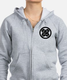 Intersecting hawk feathers in circle Zip Hoodie