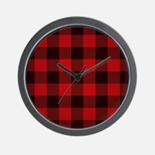 Funny Plaid Wall Clock