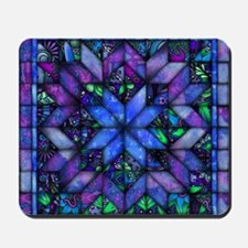 Blue Quilt Mousepad