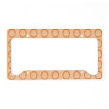Peach Circles License Plate Holder