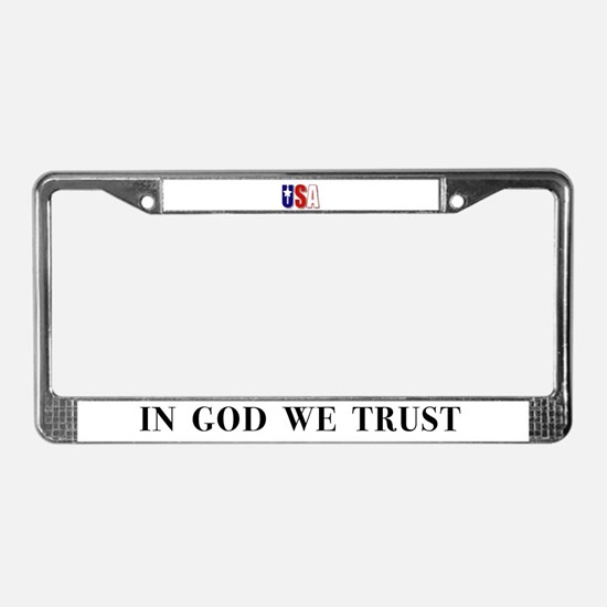 USA In God We Trust License Plate Frame