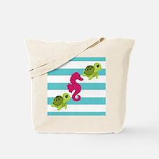 Sea Turtles Seahorse Tote Bag