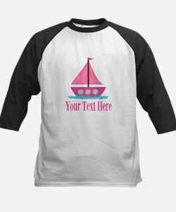 Pink Sailboat Personalizable Baseball Jersey