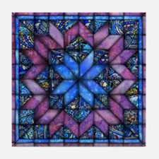 Purple Quilt Tile Coaster