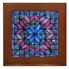 Purple Quilt Framed Tile
