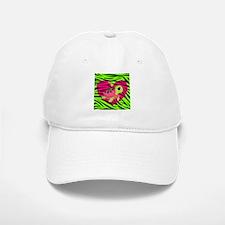 Sea Turtle Pink Green Zebra Baseball Baseball Baseball Cap