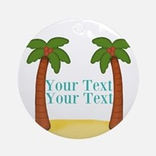 Personalizable Palm Trees Ornament (Round)