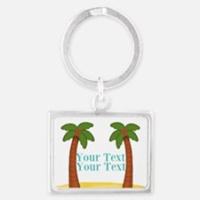 Personalizable Palm Trees Keychains