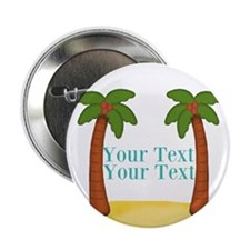 """Personalizable Palm Trees 2.25"""" Button (100 pack)"""