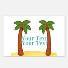 Personalizable Palm Trees Postcards (Package of 8)