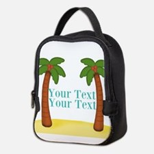Personalizable Palm Trees Neoprene Lunch Bag