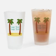 Personalizable Palm Trees Drinking Glass