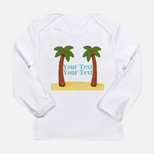 Personalizable Palm Trees Long Sleeve T-Shirt