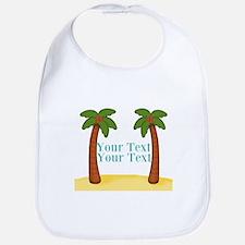Personalizable Palm Trees Bib