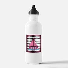 Pink Sailboat Soft Vintage Water Bottle