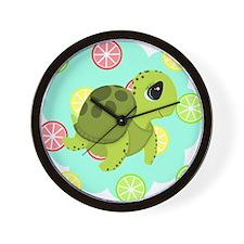 Summertime Sea Turtle Wall Clock