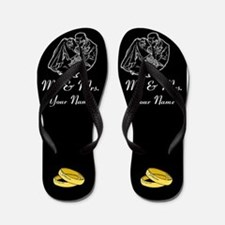 Mr And Mrs Newlyweds Flip Flops