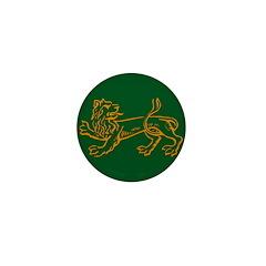 LION - Green Mini Button