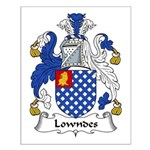Lowndes Family Crest Small Poster