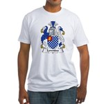 Lowndes Family Crest Fitted T-Shirt