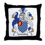 Lowndes Family Crest Throw Pillow