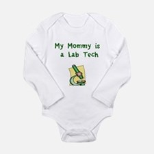 Cute Lab tech Long Sleeve Infant Bodysuit