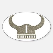 Vintage Viking Oval Decal