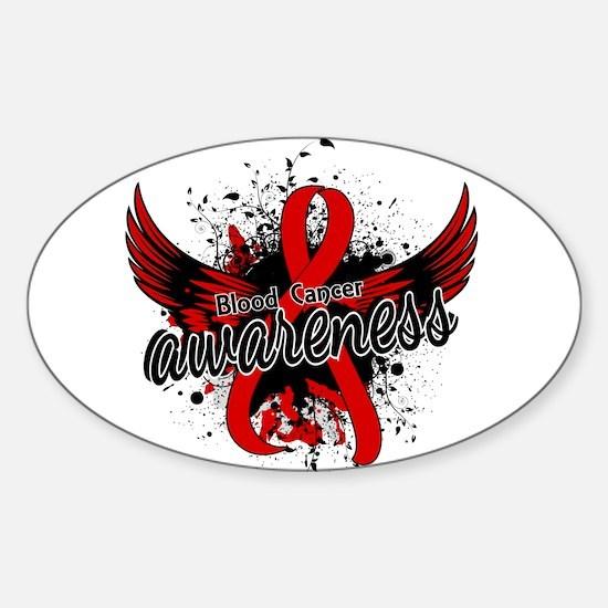 Blood Cancer Awareness 16 Sticker (Oval)