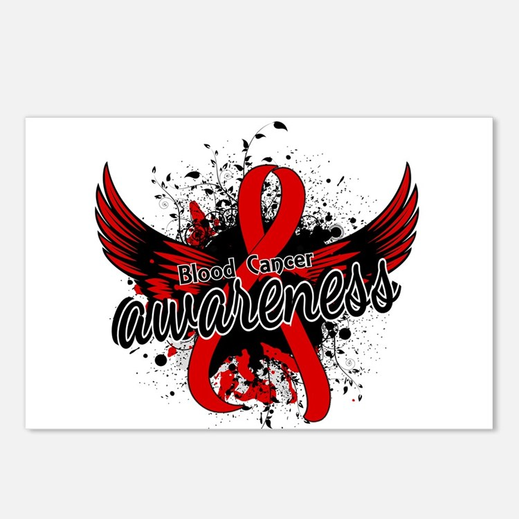 Blood Cancer Awareness 16 Postcards (Package of 8)